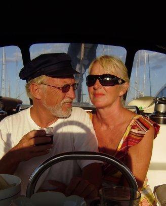 Foto gemaakt met de zelfontspanner, zomer 2008 ergens in een haven in de Middellandse Zee