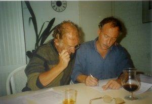 1 september 1996: Ondertekening van het koopcontract voor Fairview. Links Herman Ursinus