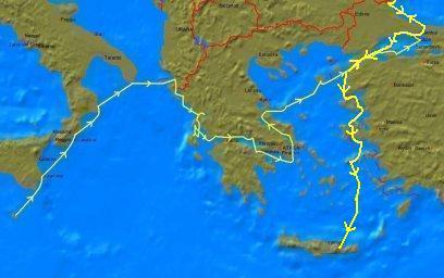 7. Vanaf 2e helft september 2009: Istanbul naar Kreta
