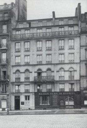 Hotel des Grands Hommes op het Place du Panthéon, Parijs 1928. In 1969 zag het er nog zo uit.