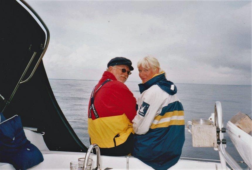 Zomer 2004: samen gefotografeerd tijdens een overtocht over het Kattegat, van G�teborg naar het eiland Laeso
