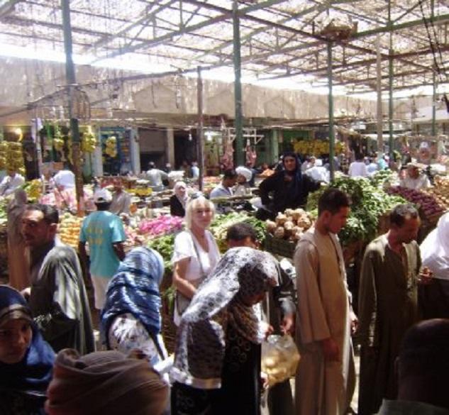Hurghada. Een van de markten in Dahar