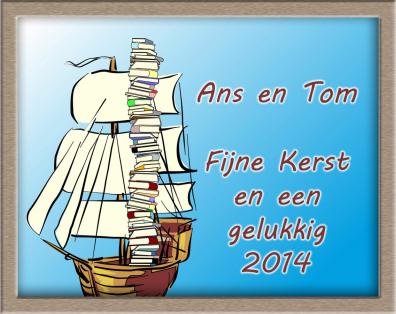 Zeilen en boeken, wenskaart van Wim van Heel