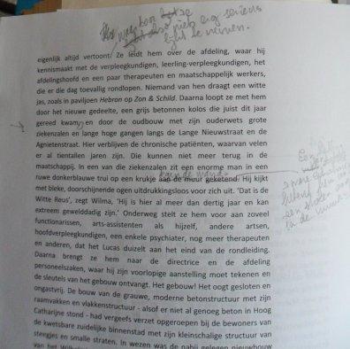 De bovenste helft van een gecorrigeerde bladzijde uit deel 3