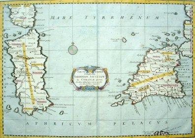 Sardinië en Sicilië, Gerard Mercator 1578