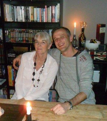 Derrick met zijn moeder