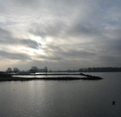 De Merwede gisteren vanaf de Altenawal