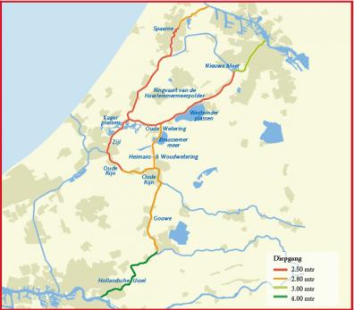 De staandemastroute door Holland.