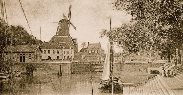 De sluiskom in Gorcum anno 1902.