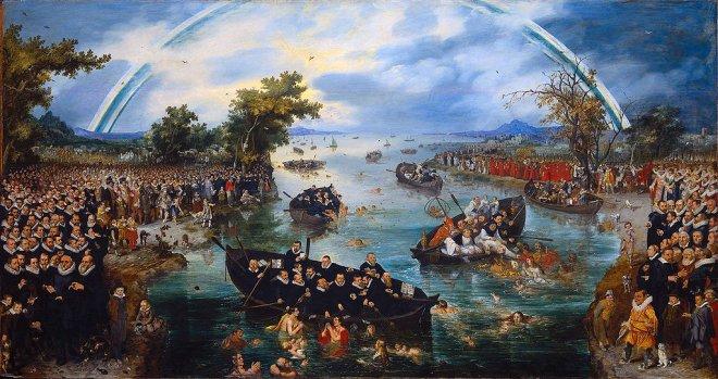 """""""De Zielenvisserij' (1614) van Adriaen Pietersz. van de Venne."""