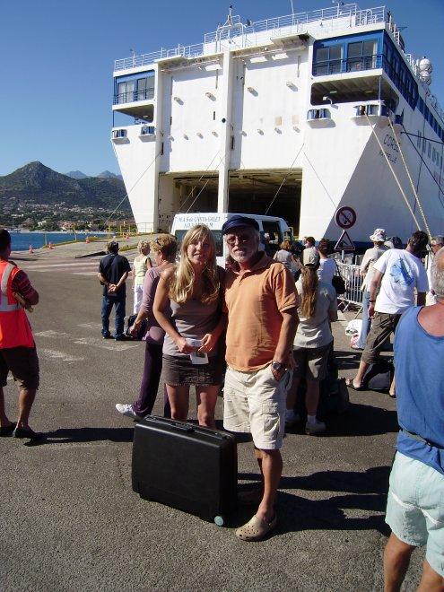 Afscheid van Floor bij de veerboot naar Nice