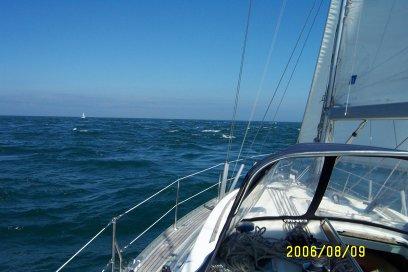 Augustus 2006, Golf van Biscaje, eerste dag van de terugtocht